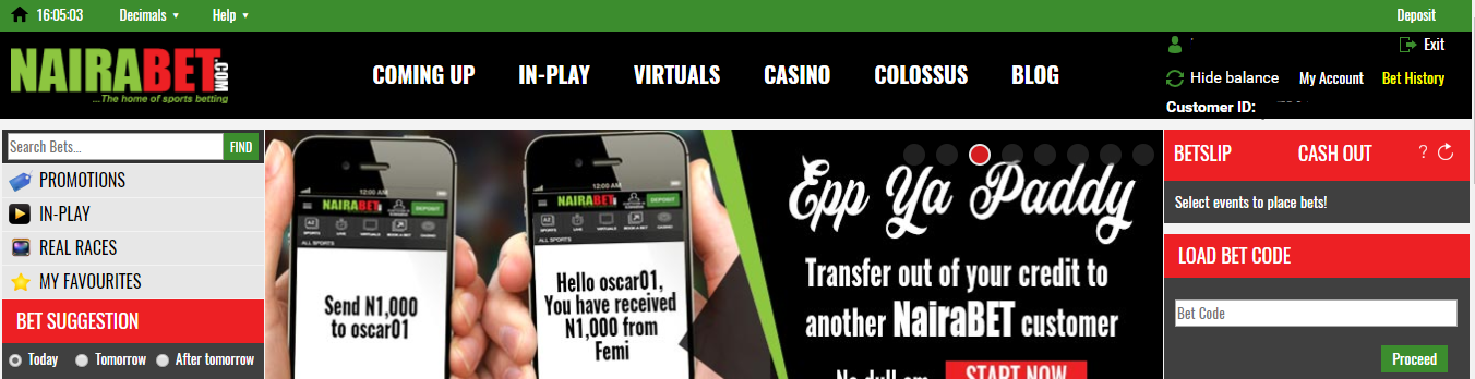 check bet ticket on nairabet