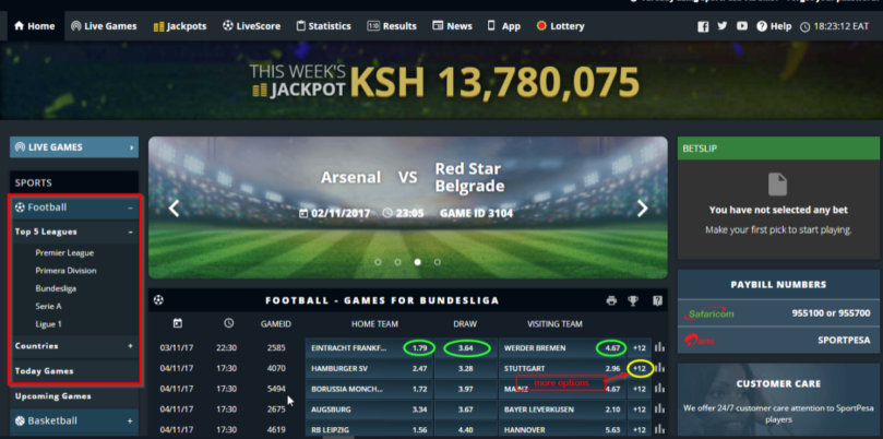 HOw to place bet on SportPesa