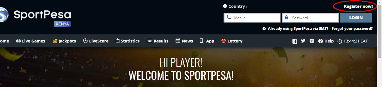 How To Register On SportPesa -